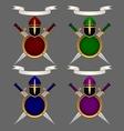 Armor knight Set vector image