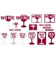 wine glass logo vector image