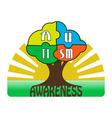 Autism Awareness T-shirt Typography vector image vector image