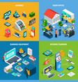 banking isometric design concept vector image vector image
