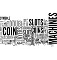 basic slots features strategies text word cloud vector image vector image