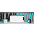 black friday smartphones sale banner template with vector image vector image