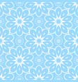 blue flower seamless pattern for background vector image vector image