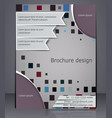 business brochure layout abstract template with vector image