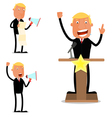 Businessman in speech vector image vector image