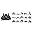 canopy icon set simple style vector image vector image