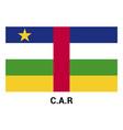 car flag design vector image