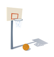 Cartoon Basketball ring vector image vector image
