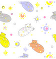 cats asleep in space vector image vector image