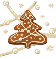 christmas tree cookie vector image