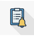 clipboard to-do list plan thin line flat icon vector image