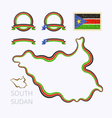 Colors of South Sudan vector image vector image