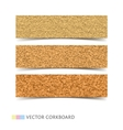 Cork board banners set vector image vector image