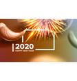 creative annonce banner celebrating 2020 vector image