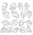 diamond 3d shapes natural crystals outline gem vector image vector image