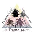 Exotic Print with Palms for T-shirt vector image vector image