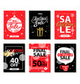 final christmas sale red black vector image vector image