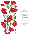 floral seamless border pattern flower greeting vector image vector image