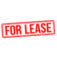 for lease sign or stamp vector image