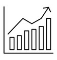 growing graphic thin line icon growth stocks vector image