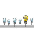 grunge with light bulbs and place vector image vector image
