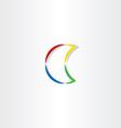 half moon colorful icon symbol vector image vector image