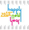 happy new year 2015 greeting design vector image vector image