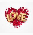 happy valentine day calligraphy lettering vector image
