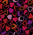 Hears seamless pattern love valentine and wedding vector image vector image