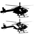 helicopter set in black on white background vector image vector image