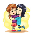 Hug Play 2 vector image vector image