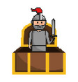 isolated medieval knight design vector image vector image