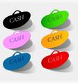 isolated sticker labels emblem cash back vector image vector image