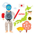 japan travel concept flat style colorful vector image