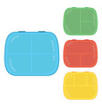 kids lunch boxes vector image vector image