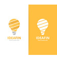 lamp logo combination lightbulb symbol vector image