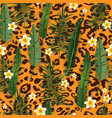 leopard seamless pattern vector image vector image