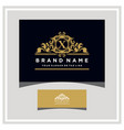 letter x logo design concept royal luxury gold vector image vector image