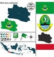 Map of West Java vector image vector image