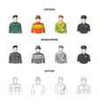military fireman artist policemanprofession vector image