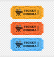 movie tickets different colors vector image vector image