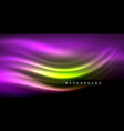 neon glowing wave magic energy and light motion vector image
