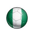 nigerian flag football - soccer ball vector image