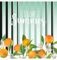Orange Floral Background Vintage Pattern vector image vector image