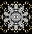 oriental ornament seamless pattern on black vector image