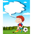 Paper design with boy and injured knee vector image vector image