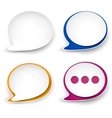 Paper rounded speech bubble vector | Price: 1 Credit (USD $1)