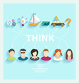 People thoughts vector image