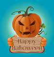 poster concept design for halloween card vector image