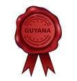 Product Of Guyana Wax Seal vector image vector image